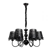 "Lustre Suspension Métal ""Lace"" Noir"