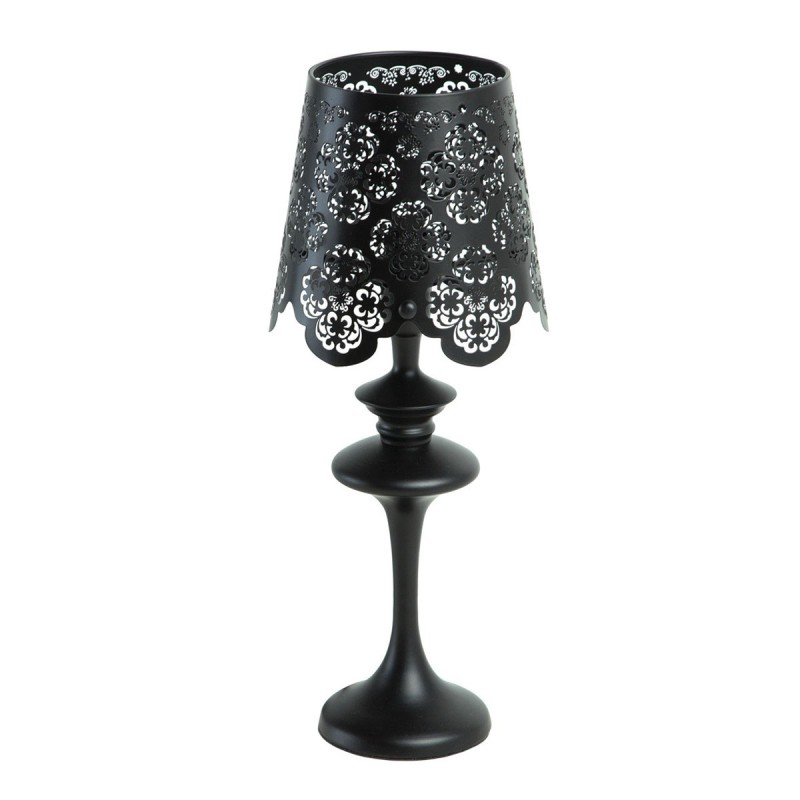 lampe poser m tal lace noir. Black Bedroom Furniture Sets. Home Design Ideas