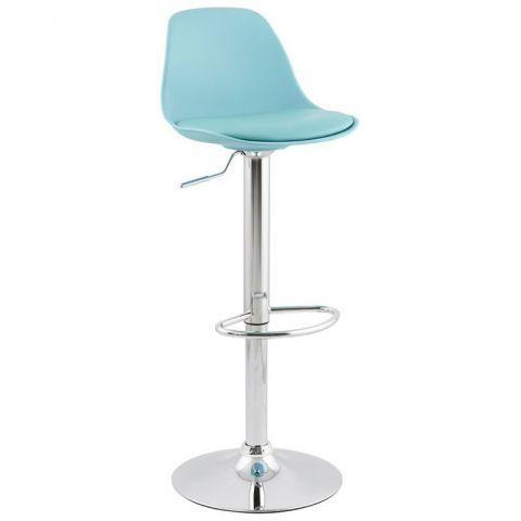 "Tabouret de Bar ""Queen"" Bleu"