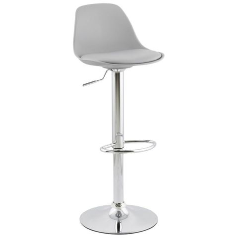 "Tabouret de Bar ""Queen"" Gris"