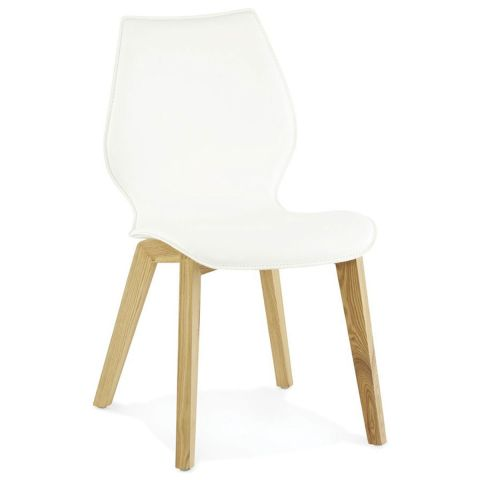 "Chaise Design ""Jema"" Blanc"