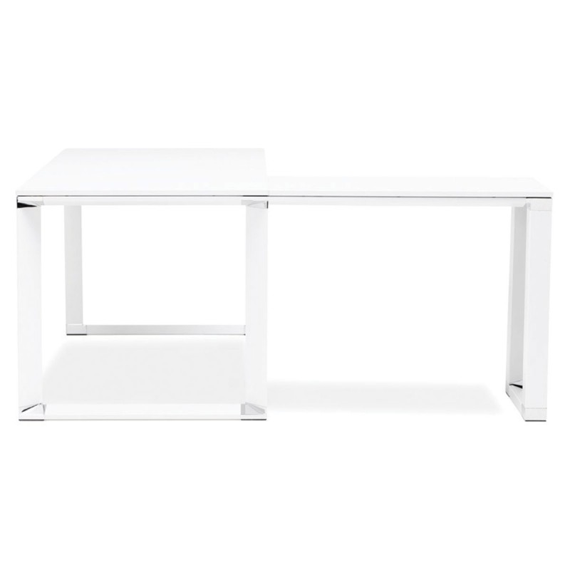 bureau d 39 angle design hovik bois blanc. Black Bedroom Furniture Sets. Home Design Ideas