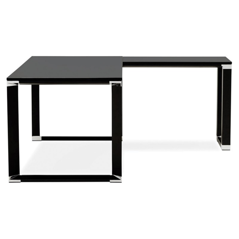 bureau d 39 angle design hovik bois noir. Black Bedroom Furniture Sets. Home Design Ideas
