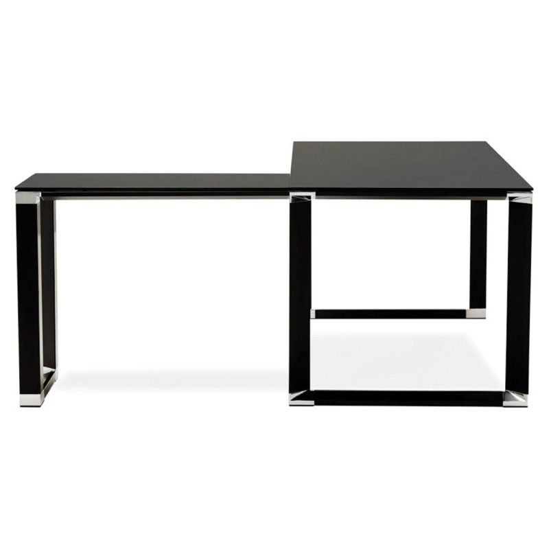bureau d 39 angle design hovik verre noir. Black Bedroom Furniture Sets. Home Design Ideas