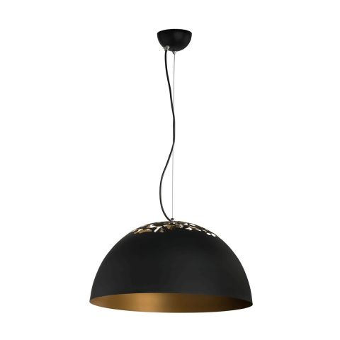 lampe suspension ozy m tal 115cm noir. Black Bedroom Furniture Sets. Home Design Ideas