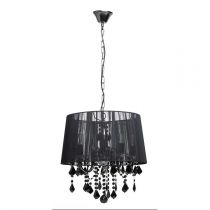 "Lampe Suspension Métal ""Pilou"" 113cm Noir"