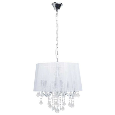 "Lampe Suspension Métal ""Pilou"" 113cm Blanc"