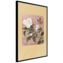 """Affiche Murale Encadrée """"Rhododendron and Butterfly"""""""