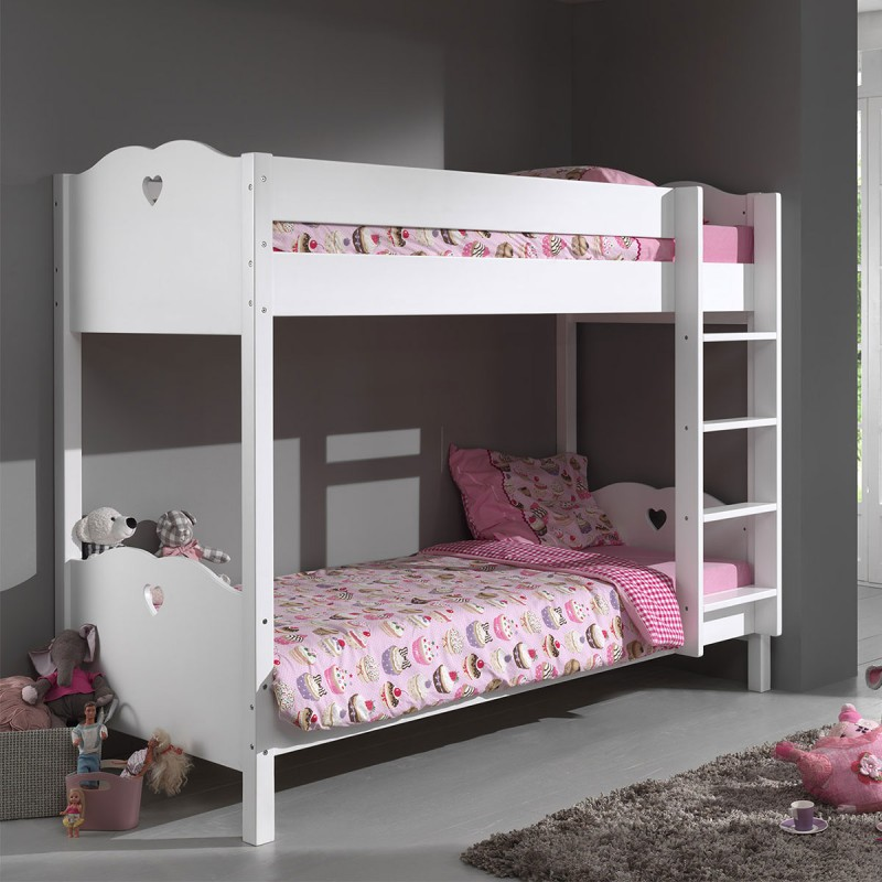 lit superpos enfant amori blanc. Black Bedroom Furniture Sets. Home Design Ideas