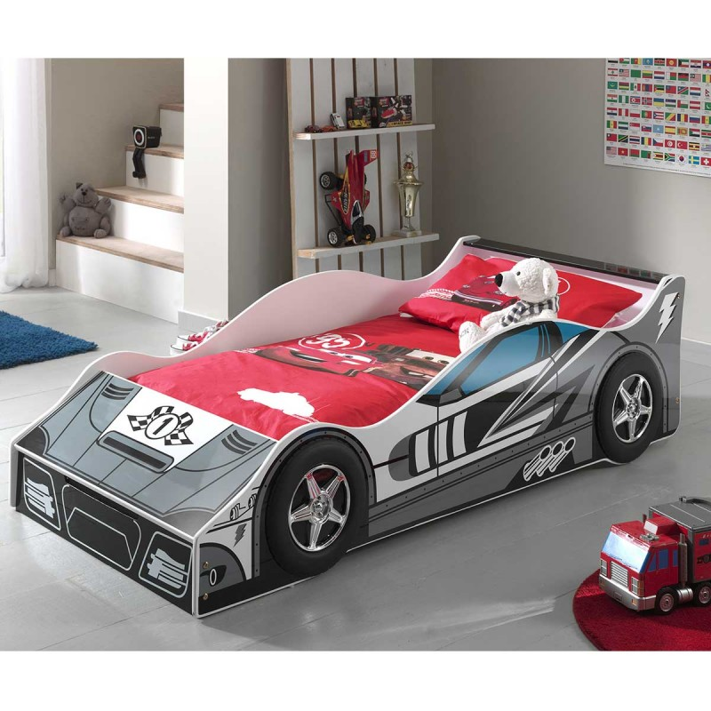 lit enfant voiture race n 1 gris. Black Bedroom Furniture Sets. Home Design Ideas