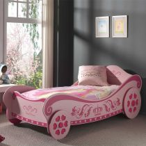 "Lit Enfant Voiture ""Royal Princess"" Rose"