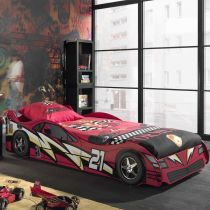 "Lit Enfant Voiture ""Night Racer n°21"" Rouge"