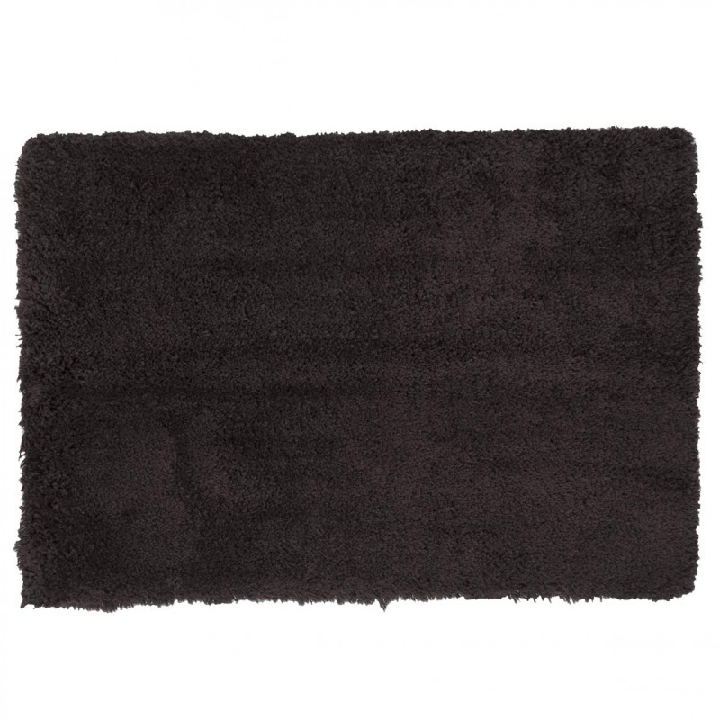 tapis microfibre 90x60cm gris fonc. Black Bedroom Furniture Sets. Home Design Ideas
