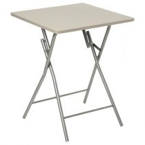 "Table Pliante 75cm ""Basic"" Taupe"