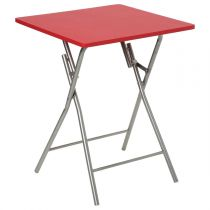"Table Pliante 75cm ""Basic"" Rouge"