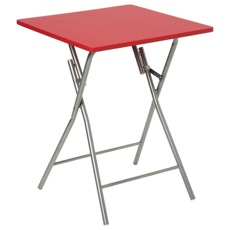 Table pliante 75cm basic rouge for Table salle a manger pliante