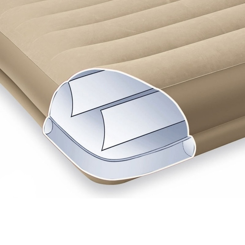 matelas gonflable electrique 1 place beige. Black Bedroom Furniture Sets. Home Design Ideas