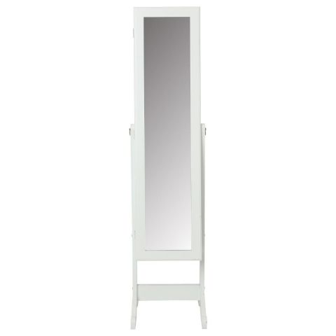 armoire bijoux miroir 145cm blanc. Black Bedroom Furniture Sets. Home Design Ideas