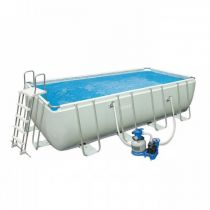 "Piscine Hors-Sol Tubulaires ""Ultra Silver"" 457x274cm Blanc"