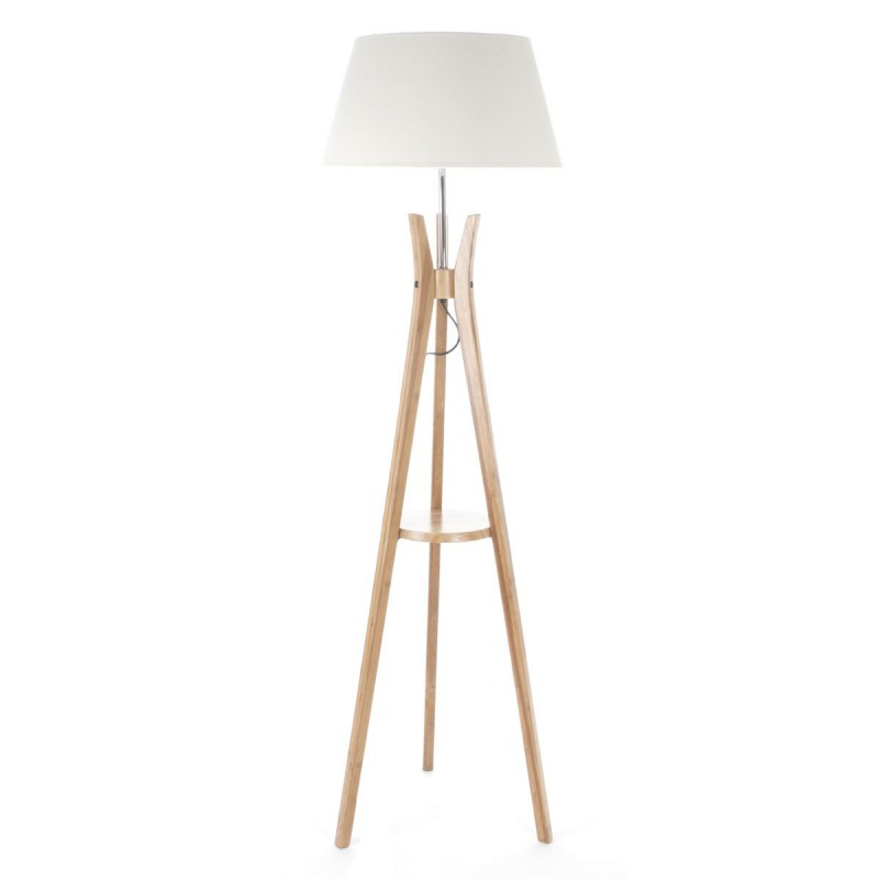 lampadaire bois tr pied 156cm naturel blanc. Black Bedroom Furniture Sets. Home Design Ideas
