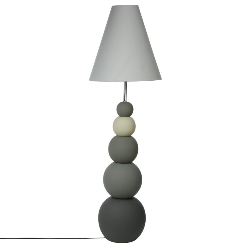 lampadaire c ramique boule 140cm gris. Black Bedroom Furniture Sets. Home Design Ideas