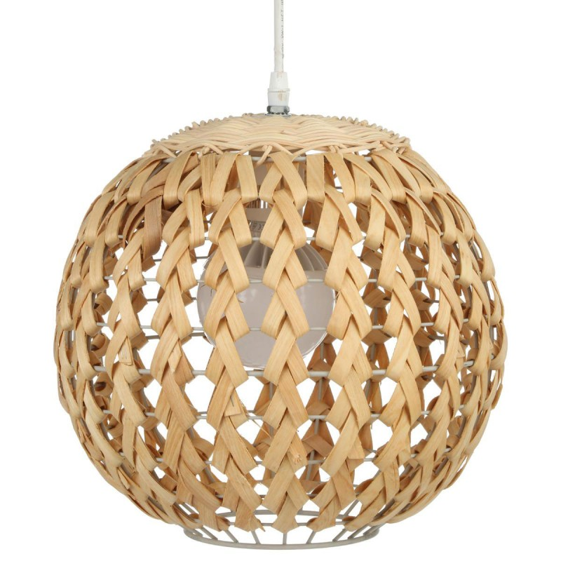 lampe suspension bambou boule 30cm naturel. Black Bedroom Furniture Sets. Home Design Ideas