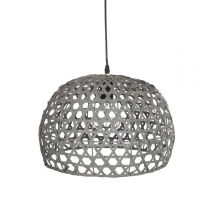 Lampe Suspension Bambou 30cm Gris