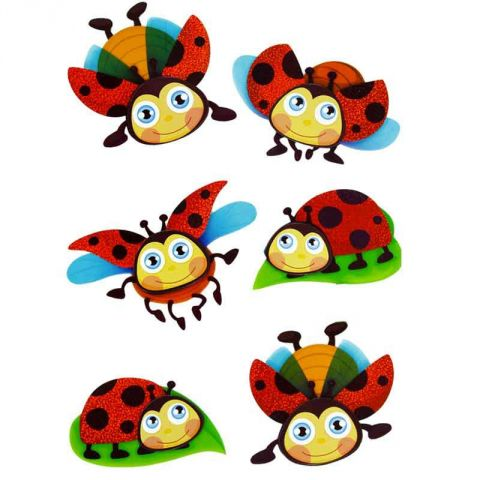 "Stickers 3D  ""Coccinelles"""