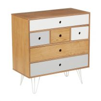 "Commode 9 Tiroirs ""Shulg"" Naturel"