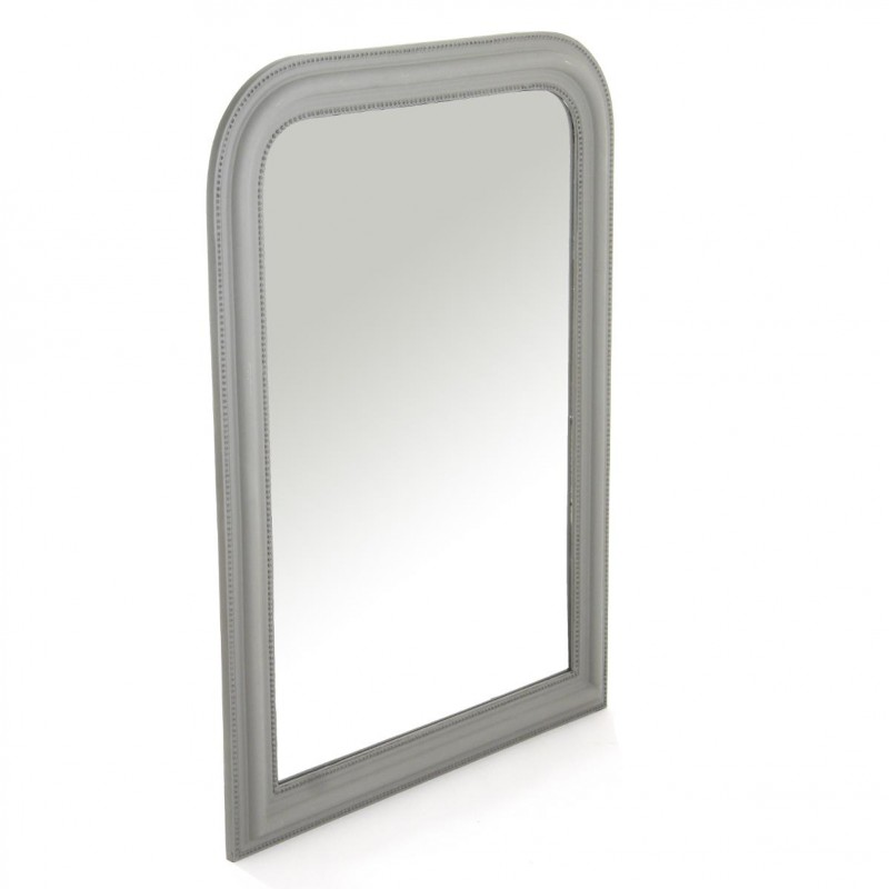 Miroir 60x90cm gris paris for Miroir 60 x 100