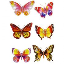"Stickers 3D  ""Papillons Marron"""