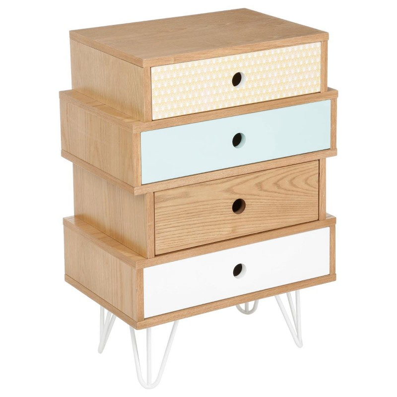 Commode 4 tiroirs shulg multicolore - Commode maison du monde occasion ...
