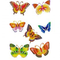 "Stickers 3D  ""Papillons Orange"""