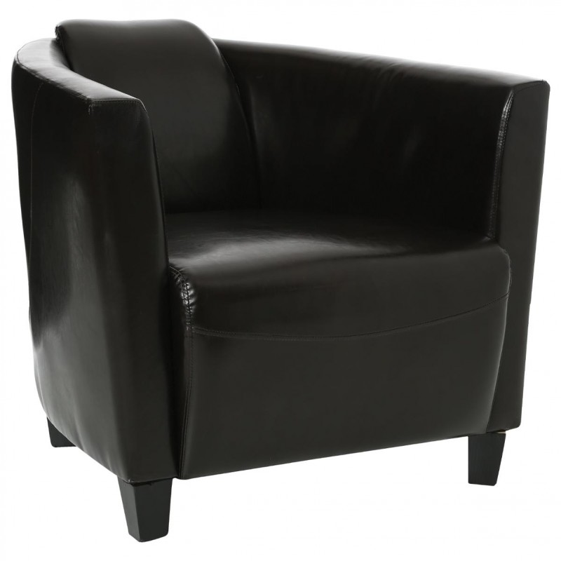 fauteuil club simili cuir 72cm. Black Bedroom Furniture Sets. Home Design Ideas