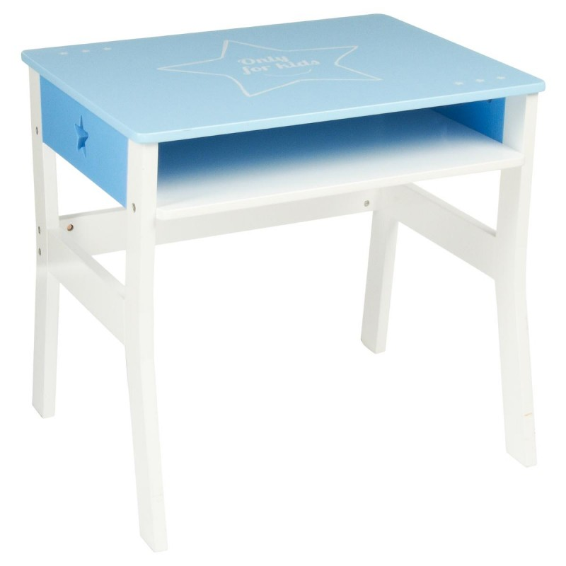 bureau enfant toile 58cm bleu. Black Bedroom Furniture Sets. Home Design Ideas