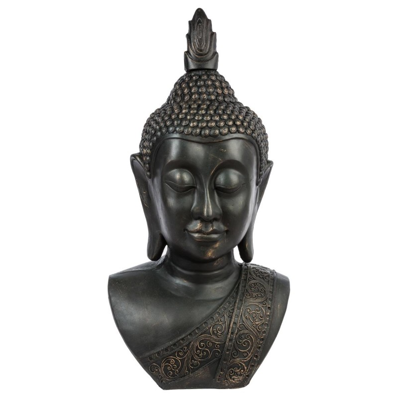 statue bouddha t te souriante 113cm. Black Bedroom Furniture Sets. Home Design Ideas