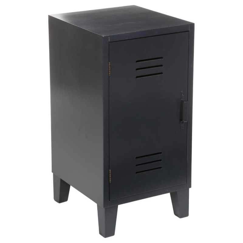table de chevet 1 porte vie flashy noir. Black Bedroom Furniture Sets. Home Design Ideas