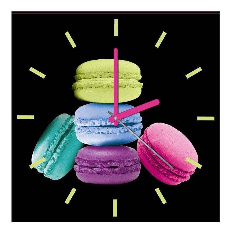 horloge cuisine macarons. Black Bedroom Furniture Sets. Home Design Ideas