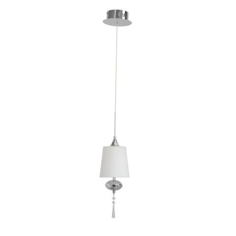"Lampe Suspension Métal ""Jenn"" 140cm Blanc"