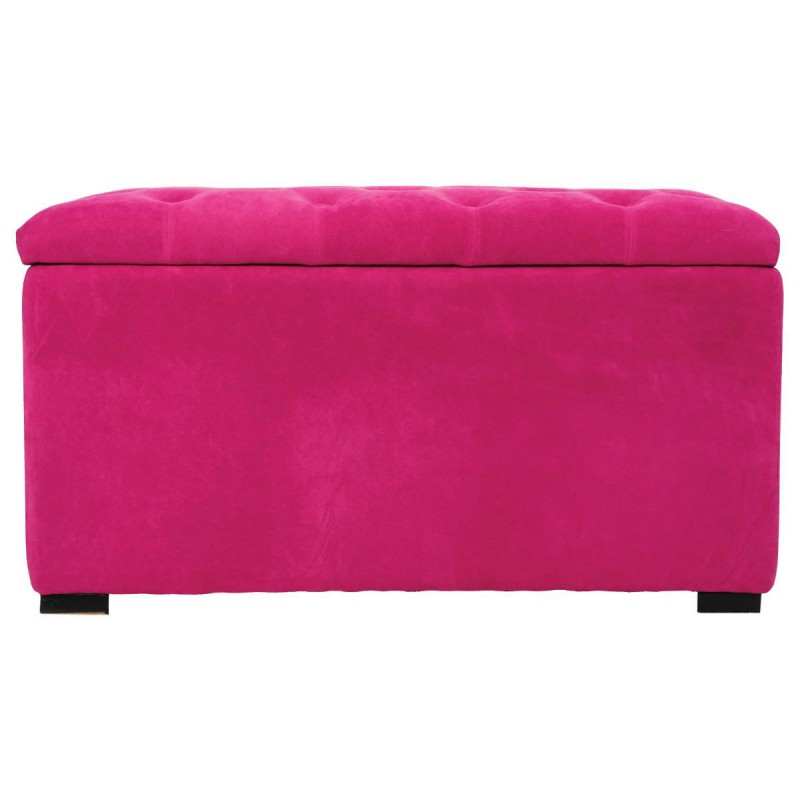 ensemble banquette 2 poufs velours shae rose. Black Bedroom Furniture Sets. Home Design Ideas