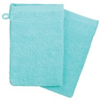 "Lot de 2 Gants de Toilette ""Confort"" 15x21cm Aqua"