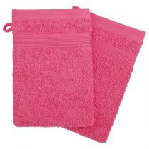 "Lot de 2 Gants de Toilette ""Confort"" 15x21cm Corail"