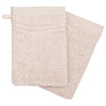 Lot de 2 Gants de Toilette 15x21cm Lin