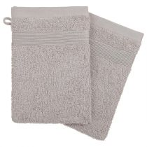 Lot de 2 Gants de Toilette 15x21cm Taupe