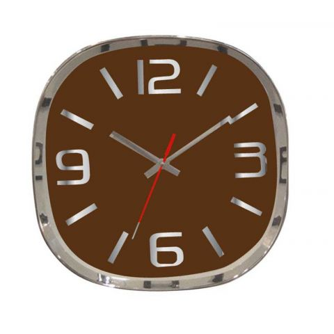 "Horloge Design ""Rétro"" Marron"