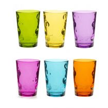 "Lot de 6 Gobelets en Verre ""Space"" Mutlicolore"