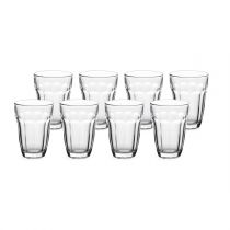 "Lot de 8 Gobelets en Verre ""Baroque"" Transparent"