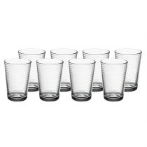 "Lot de 8 Gobelets en Verre ""Doro"" Transparent"