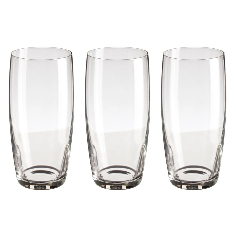 lot de 3 verres style 44cl transparent. Black Bedroom Furniture Sets. Home Design Ideas
