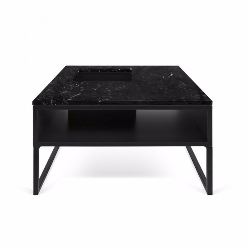 Table basse pied metal noir for Table basse 3 pieds